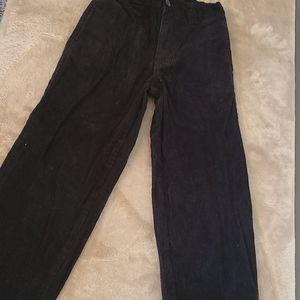 Boys black corduroy pants